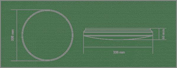 Накладний світильник GLOBAL 18W