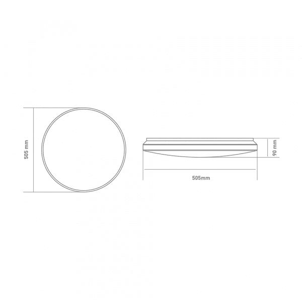 Функціональний настінно-стельовий світильник GLOBAL Functional Light 72W