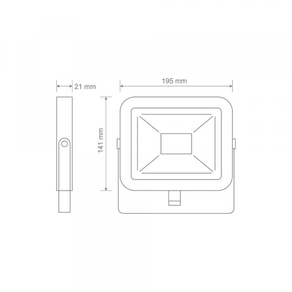 Прожектор світлодіодний MAXUS FL-02 30W