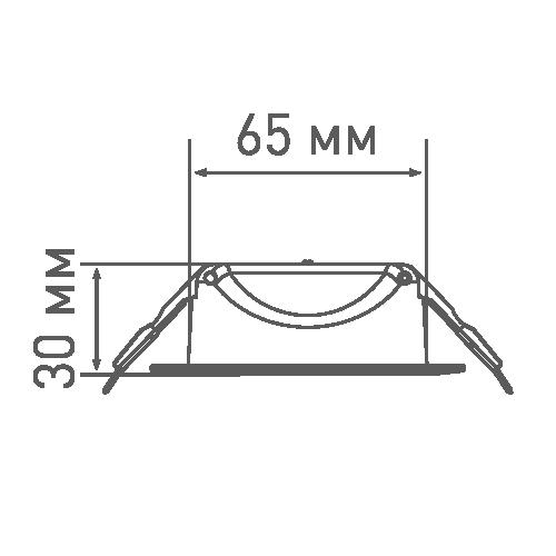 Точковий світильник Maxus 8W