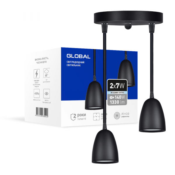 Світильник світлодіодний GPL-01C GLOBAL 14W