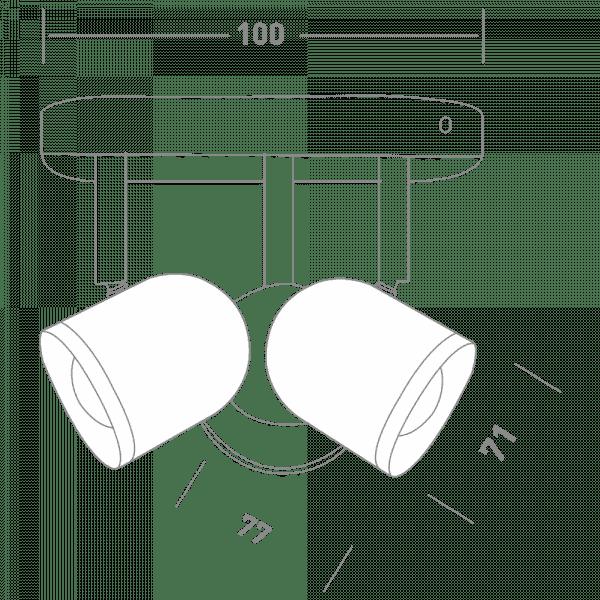 Спотовий світильник MAXUS MSL-01R