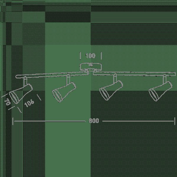 Спотовий світильник MAXUS MSL-02C
