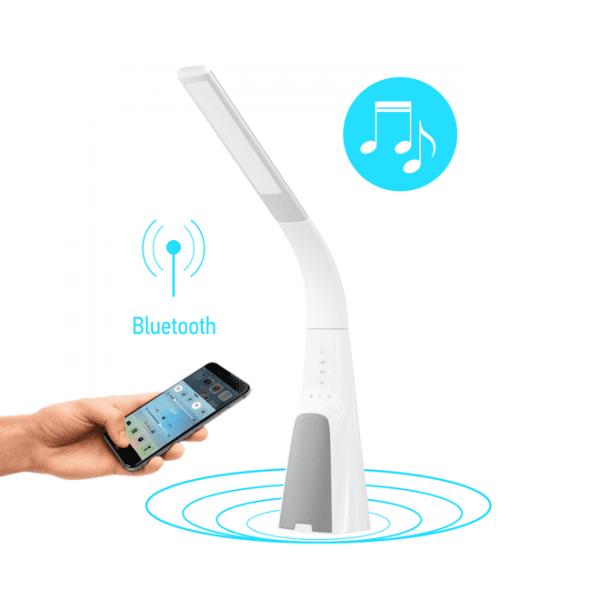 Настільна лампа Intelite desklamp Sound 9W біла