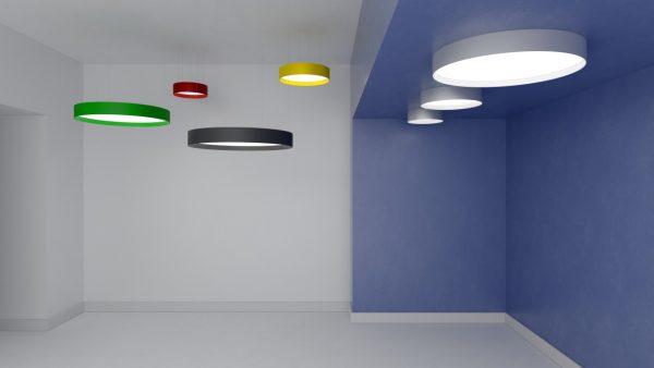 Дизайнерський світлодіодний світильник Round FL Bossa