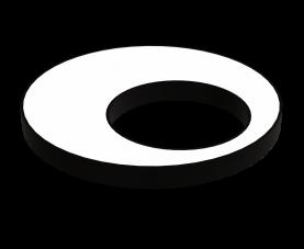 """Підвісний дизайнерський LED світильник """"Кільце ассиметрик"""" 48W IP20"""
