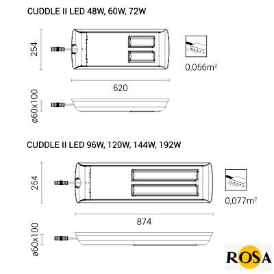 Світлодіодний світильник Rosa CUDDLE II LED