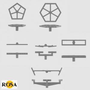 Оголовники алюмінієві Rosa WM