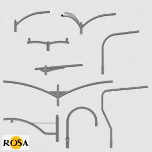Оголовники алюмінієві Rosa WR