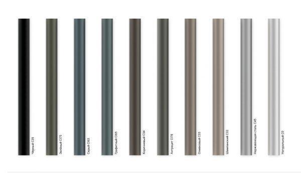 Опора пряма алюмінієва Rosa SAL-5/B60 кольори