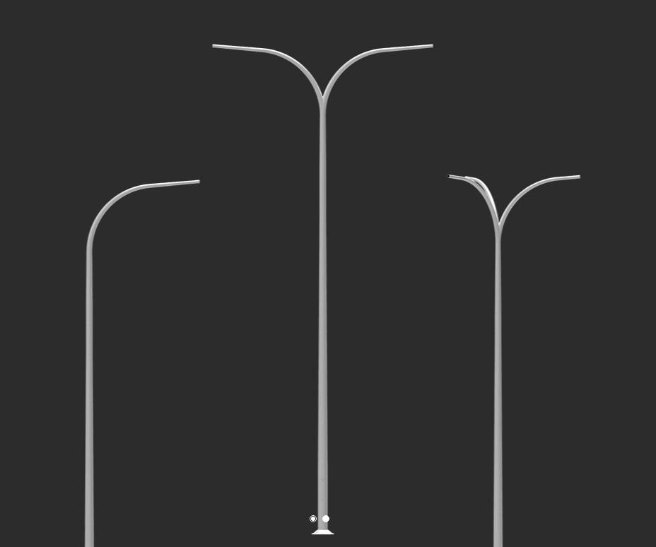 Опора двоелементна з дугоподібним оголовником SAL-9 різні види