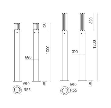 Світлодіодні стовпчики Rosa Slice LED