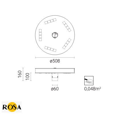 Світлодіодний світильник Rosa VEGA LED BETA розміри