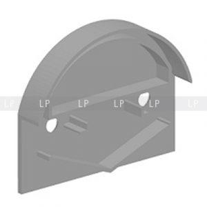 Профіль алюмінієвий анод срібло ЛН50 заглушка
