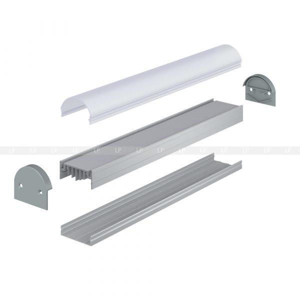 Профіль алюмінієвий анод срібло ЛН50