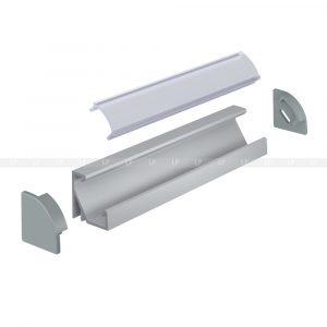 LED-профіль алюмінієвий кутовий ЛПУ (схема)