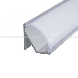 LED-профіль алюмінієвий кутовий анодований (срібний) ЛПУ17н