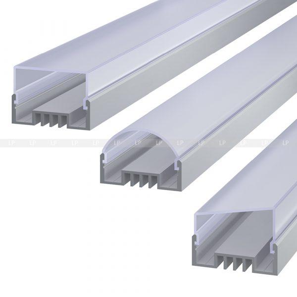 LED профіль алюмінієвий анодований, срібло (ЛСО)