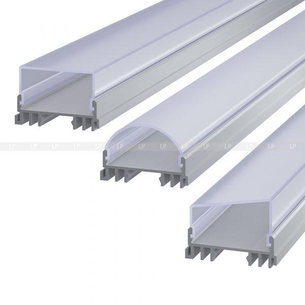 LED профіль алюмінієвий анодований, срібло (ЛСС)