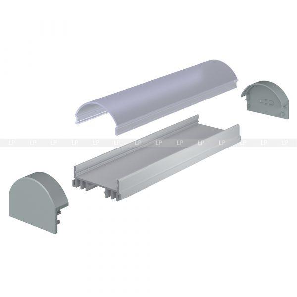 LED профіль алюмінієвий, анодований, срібло (ЛСС)