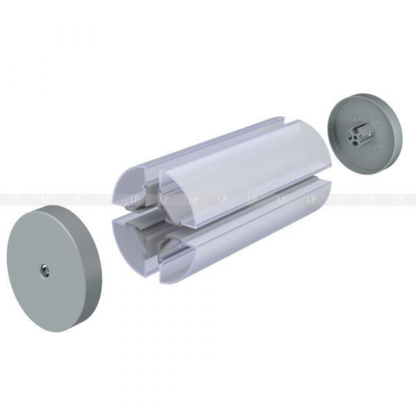LED профіль алюмінієвий кутовий, анодований, срібло (ЛСУ)