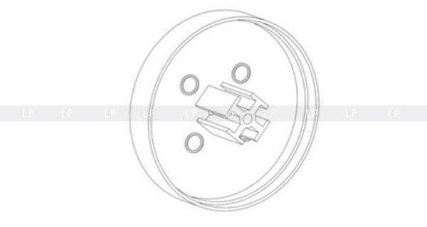 LED профіль алюмінієвий кутовий, анодований, срібло (ЛСУ) заглушка