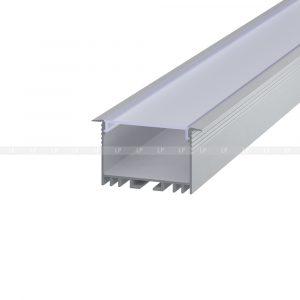 LED профіль алюмінієвий врізний, анодований, срібло (ЛСВ40)