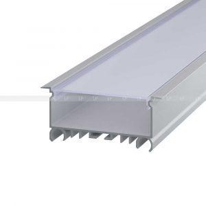 LED профіль алюмінієвий врізний, анодований, срібло (ЛСВ70)