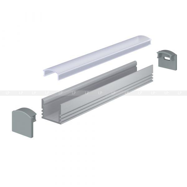 LED-профіль алюмінієвий анодований ЛП12 (схема)