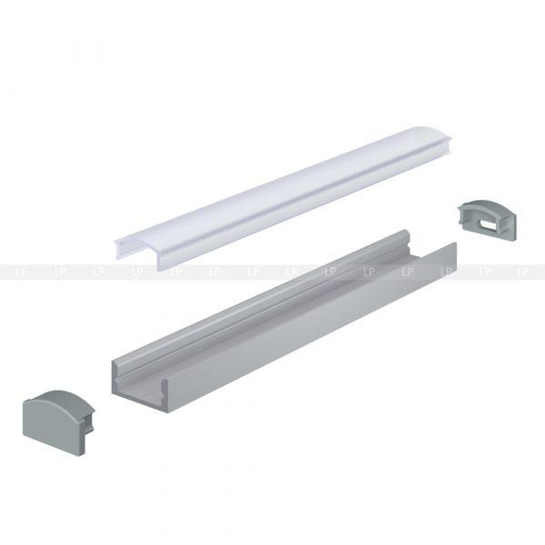 LED профіль алюмінієвий анодований накладний (фото)