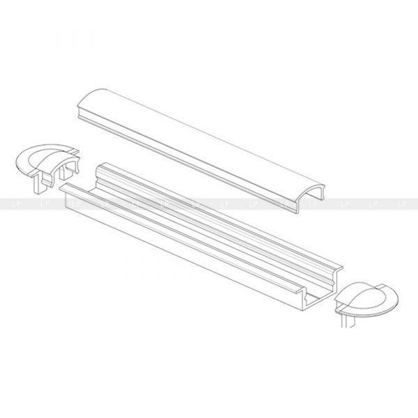 LED-профіль алюмінієвий врізний ЛПВ7 (фото монтажу)