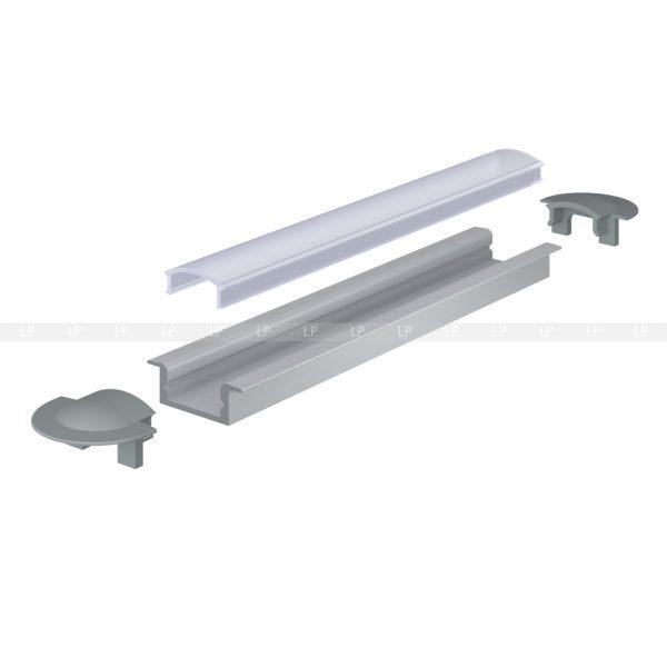 LED-профіль алюмінієвий врізний ЛПВ7 (схема збирання)