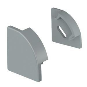 LED-профіль алюмінієвий кутовий ЛПУ (заглушки)