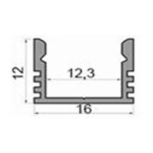 Профіль алюмінієвий LED P12A