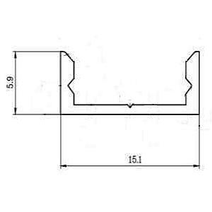 Профіль алюмінієвий LED P7 6х15,5 мм неанодований