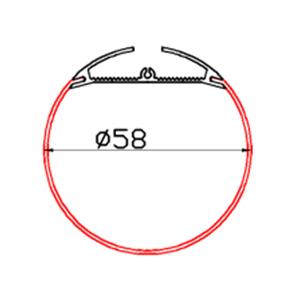 Профіль алюмінієвий LED LPR-60A анодований