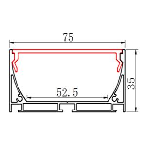 Профіль алюмінієвий LED LS-75 анодований