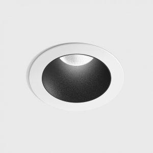 Світильник стельовий вбудований NANO R білий/чорний