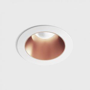 Світильник стельовий вбудований NANO R білий/мідний
