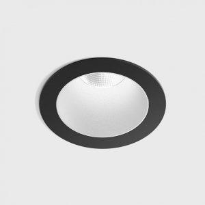 Світильник стельовий вбудований NANO R чорний/білий