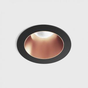 Світильник стельовий вбудований NANO R чорний/мідний