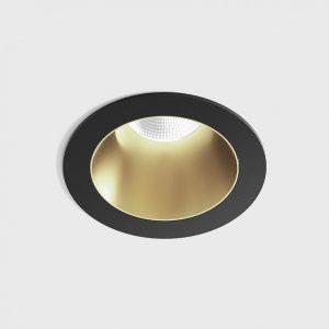 Світильник стельовий вбудований NANO R чорний/золотий