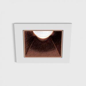 Світильник стельовий вбудований NANO S білий/мідний