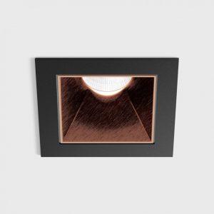 Світильник стельовий вбудований NANO S чорний/мідний