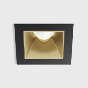 Світильник стельовий вбудований NANO S чорний/золотий