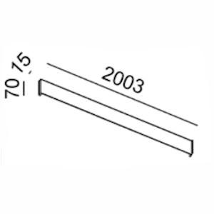 Світильник настінний накладний STRAIGHT 36W розміри
